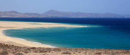 beach of the island of Fuerteventura Stock Photo