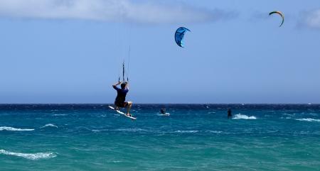 kitesurfen: kitesurfen Stockfoto