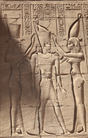 wall of edfu temple photo