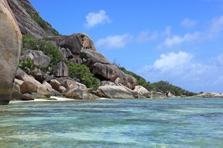 anse source d argent: coast of seychelles Stock Photo