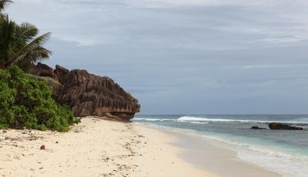 anse source d argent: sedychelles beach Stock Photo