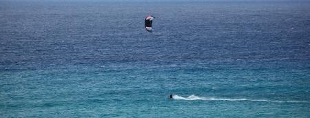 panorama of kitesurfer photo