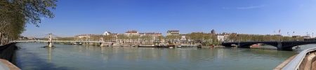 rhone: panorama of the Rhone in the city of Lyon