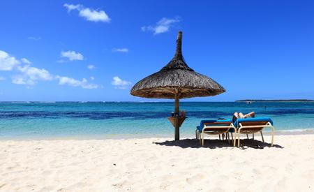 mauritius: strand van Mauritius