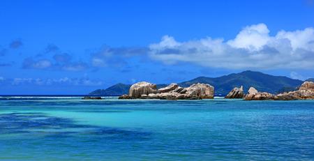 blue sea in Seychelles islands
