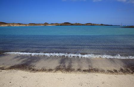 los lobos island blue lagoon Stock Photo