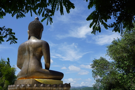 thai believe: Big Buddha from the back