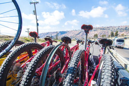 Color Bike In La Paz Stock Photo