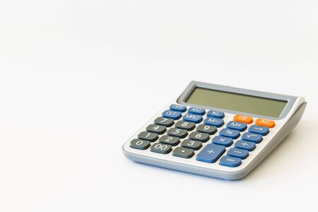 One single calculator with a white background