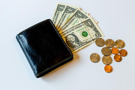 Cash Wallet Coins Dollars