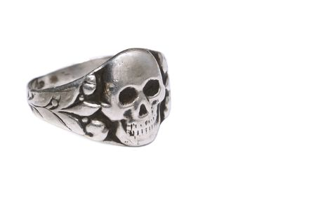ss: Old German army ring of a corp of combat troops (the Waffen-SS (division Toten Kopf) in World War II