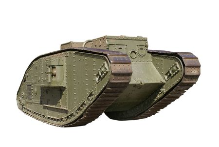 army tank: Unique example of light battle tank of the First World War. The Entente side (Britain, France, Russia)       Stock Photo