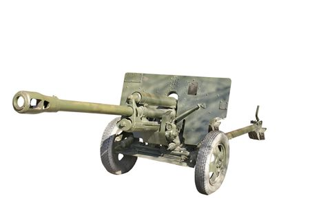 Famous and very popular soviet 76mm antitank gun from the World War Two photo