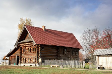 craftsmanship: Very rare example of XIX century rich peasant home. Very interesting craftsmanship of Russian wood master. Museum of wood craftsmanship in Suzdal, Russia