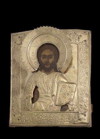 saviour: Icon of the All Rulerthe Savio(u)r. Russia. The 19th century.