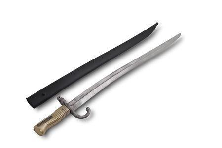 baionetta: Baionetta di fanteria tedesco yataghan tipo Tochasstpot fucile. 1865-1874.