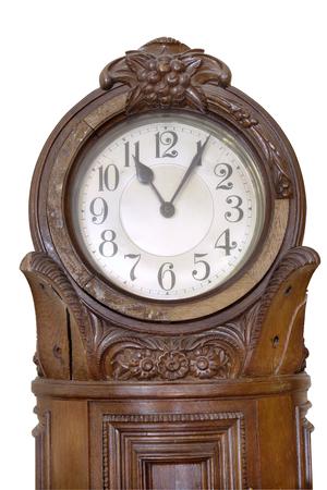 sideboard: Striking clock. Part of XVIII century big suite of furniture sideboard, chest of drawers. table Beautiful craftsmanship example of German engravers on wood. Made in German, Dresden region.
