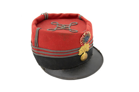 kepi: Uniform cap of French grenadier. The beginning of the 19 century. France. The period of the WWI