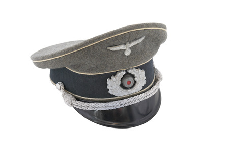 infantry: German officer uniform cap, white edging - infantry. ONLY FOR HISTORICAL PURPOSES !!! Editorial