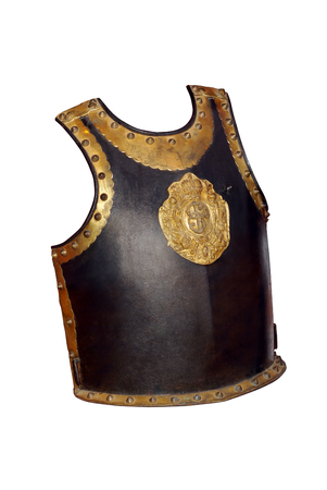 cavalryman: Cuirass of Russian gentleman-at-arms lifeguard front side with monogram of Yelizaveta Petrovna Empress of Russia - 1741-1761. Russia. 18 century.