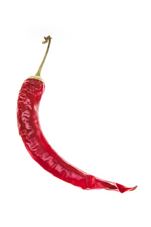 natue: red paprika isolated on white background.