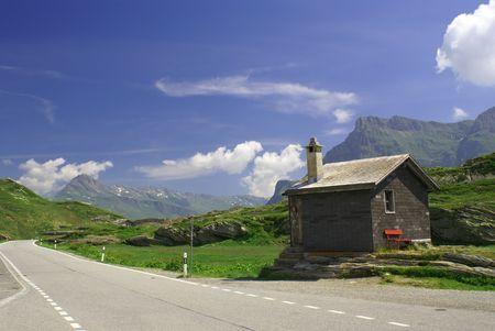 bernardino: San Bernardino Pass in Swiss Alps            Stock Photo