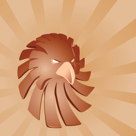 feather vector: Bronze eagle illustration Illustration