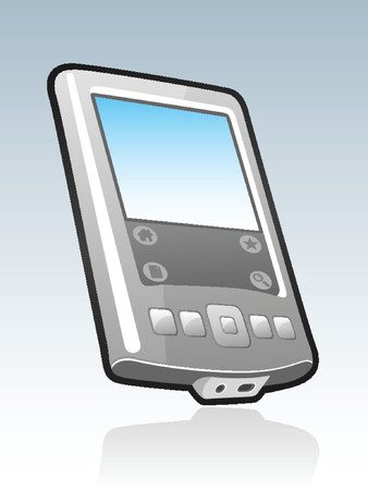 agenda electr�nica: Ilustraci�n de mano PDA