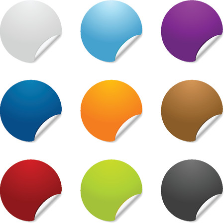 backing: Colorful sticker icon graphics
