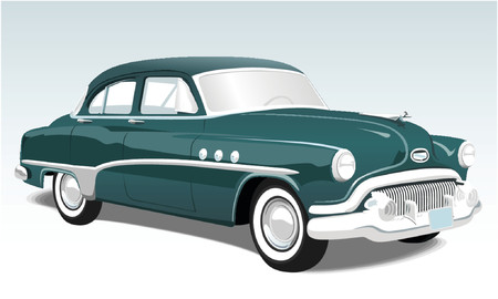 Vintage American classic car Illustration