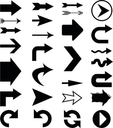 Arrows (vector) Stock Illustratie