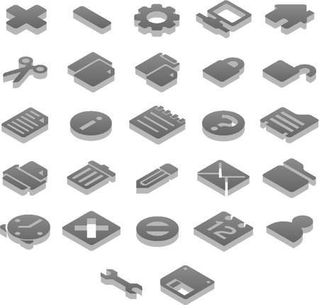 Titanium 3D icons Basic (1 of 2) Stock Vector - 1243023