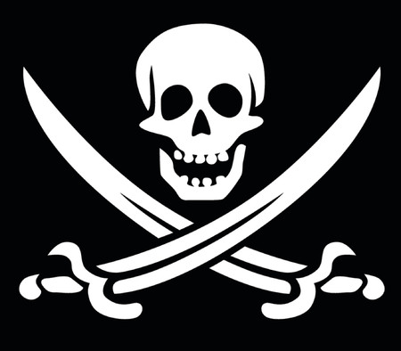 roger: Jolly Roger skull and crossed swords symbol Illustration