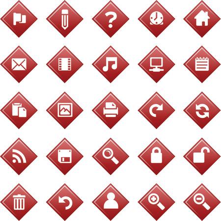 Red diamond shape icons Illustration