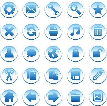 configure: round blue icons Illustration