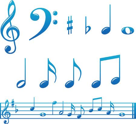 Conjunto de música brillante y observa con marcas Resultado  Foto de archivo - 1279972