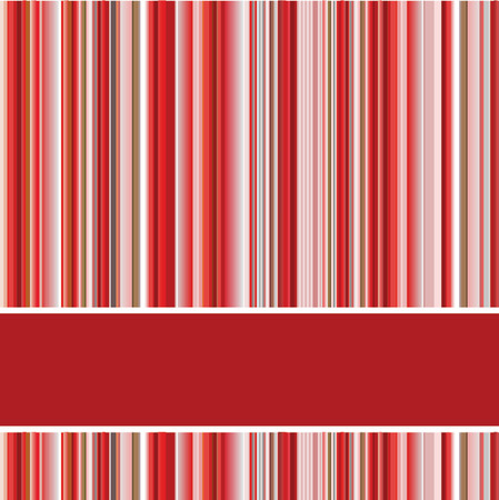 Red pinstripe background with blank banner Illustration