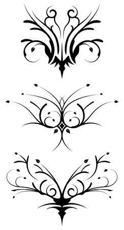 Floral tribal design elements Vector