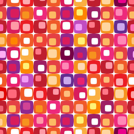 Retro colorful square pattern, tiles in any direction Stock Vector - 1780911