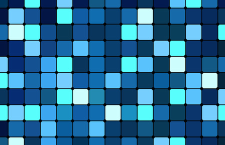 Blue square tile pattern, various blue tints and shades