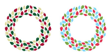 Christmas wreath illustration Vector