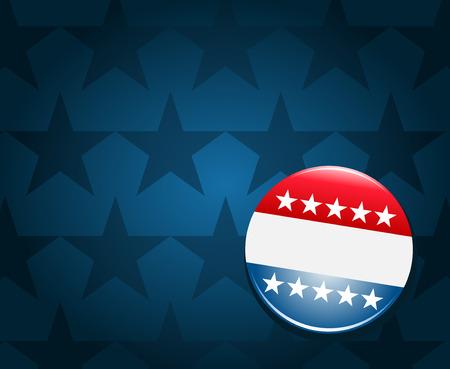 urne: Campagna elettorale sul pulsante sfondo blu Vettoriali