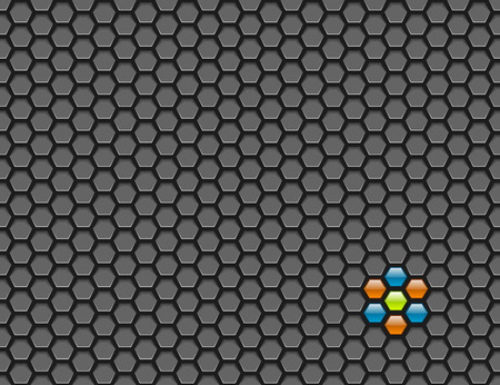 mesh: Hexagon mesh background with glossy colored sections