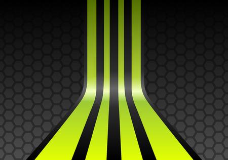 mesh: Lime green stripes on gray mesh honeycomb background