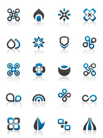 20 가지 디자인 요소와 다양한 그래픽 세트