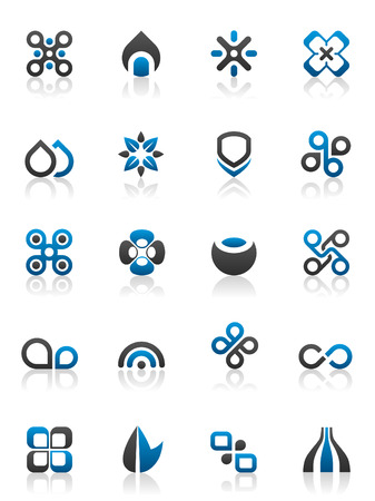 Set of 20 design elements and various graphics Vector