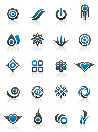 Set of 20 design elements and various graphics Banco de Imagens - 2818089
