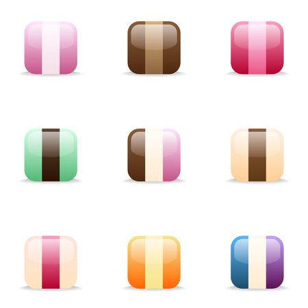 cream colour: 9 set di gelato Colore icone