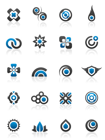 Set of 20 design elements and various graphics Stock Vector - 2942733