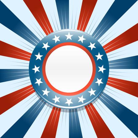 urne: Campagna elettorale sul pulsante rosso bianco e blu di fondo